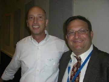 Fr. Scott (left) and Rabbi Frederick Klein (right)